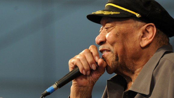 """Bobby """"Blue"""" Bland performs during the New Orleans Jazz & Heritage Festival in 2011."""