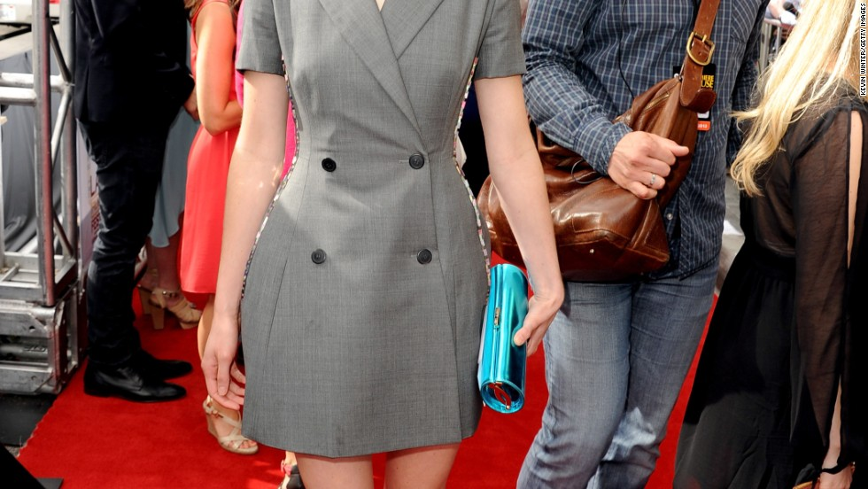 "Krysten Ritter is all business at the premiere of ""The Way, Way Back"" in Los Angeles on June 23."