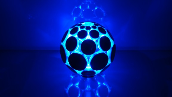 The AlphaSphere was envisioned as a new way for musicians to interact with music software -- by playing with a ball. Each pad creates a different noise: what noise is up to you.