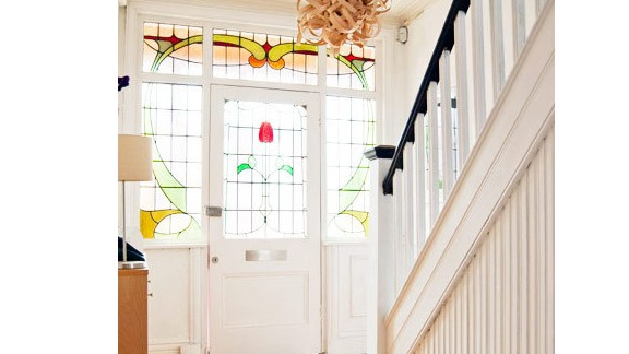 Christine Price put 250 hours of hard work into the staircase of her Edwardian home in Manchester, England.