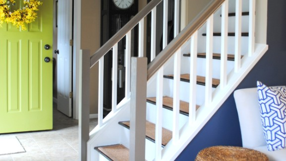 Jenna Burger's Saratoga Springs, New York home had dated carpet on the stairs that she could not stand. But now that the staircase is redecorated, she often thinks about what it took to make it the way she wanted it.