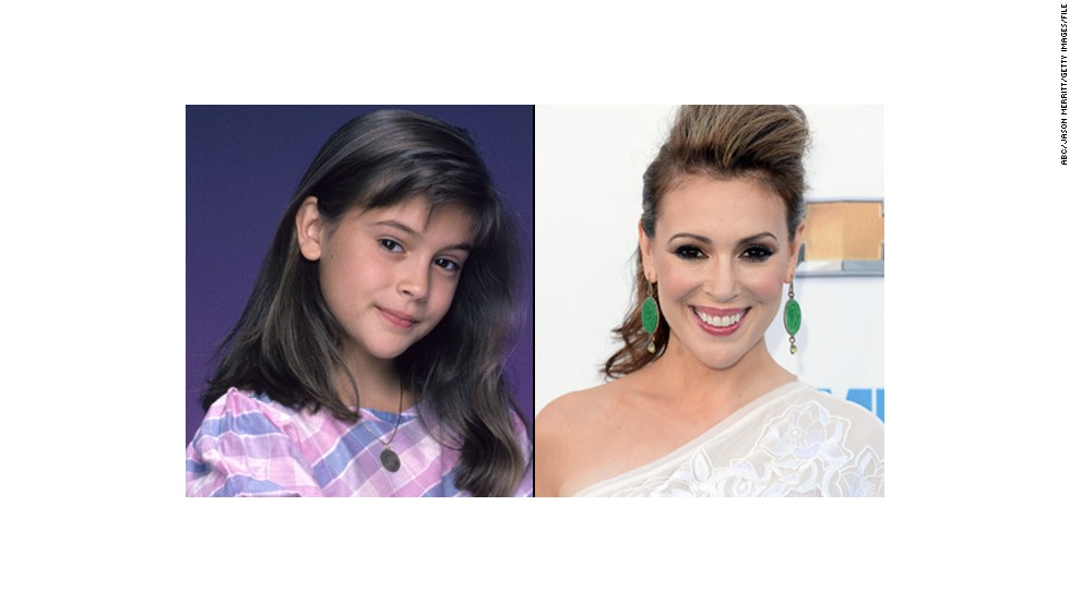 "Alyssa Milano, estrella infantil de ""Who's The Boss?""."