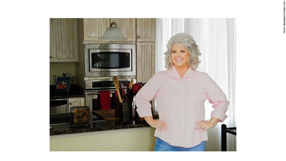 "Fans can enjoy a Paula Deen-themed vacation at the chef's beach house, the ""<a href=""http://bookings.mermaidcottages.com/Unit/Details/39370"" target=""_blank"">Y'all Come Inn</a>"" on Tybee Island, near Savannah, Georgia. Perks include ""VIP Guaranteed reservations"" at Uncle Bubba's Oyster House and The Lady & Sons restaurant and a personalized Paula Deen cookbook."