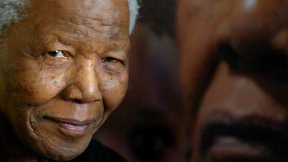 Mandela attends an HIV/AIDs concert in Johannesburg on February 17, 2005.