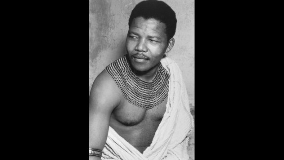 Mandela poses for a photo, circa 1950.