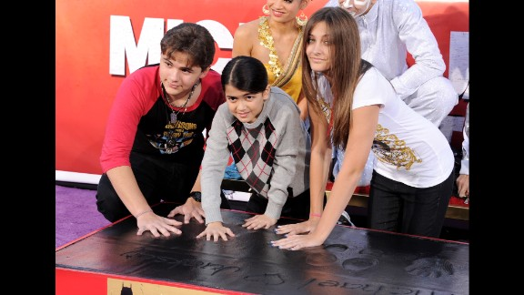 Prince, Blanket and Paris at Grauman's Chinese Theatre in 2012.