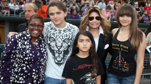 LaToya Jackson and Michael's kids pose with the mayor of Gary, Indiana, Karen Freeman-Wilson, in 2012.