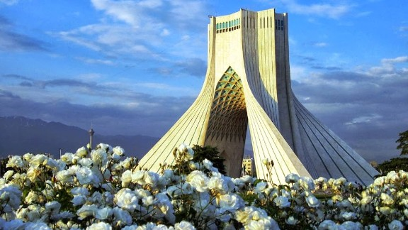 The Azadi Tower, in Tehran, was erected in 1973 to commemorate the 2,500th anniversary of the first Persian empire. Iran presents a wealth of distinctive ancient and modern architecture. Read the accompanying article.