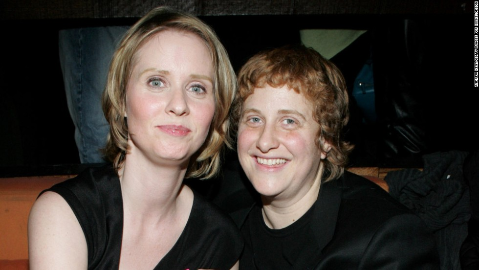 """Sex and the City"" star Cynthia Nixon, left, started dating activist Christine Marinoni in 2004. The couple got engaged in 2009 and married in 2012."