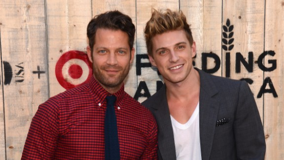 Interior design guru Nate Berkus, left, and Jeremiah Brent tied the knot in New York in May 2014. According to People magazine, they held the ceremony at the New York Public Library and are the first same-sex couple to host a wedding at the historic landmark. The pair announced their engagement in April 2013.