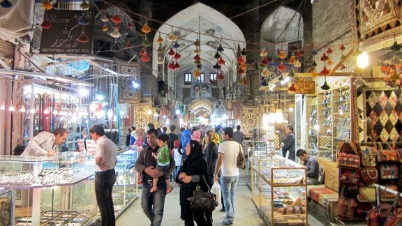 The Bazar-e Bozorg, off the north end of Imam Square in Isfahan, is among Iran