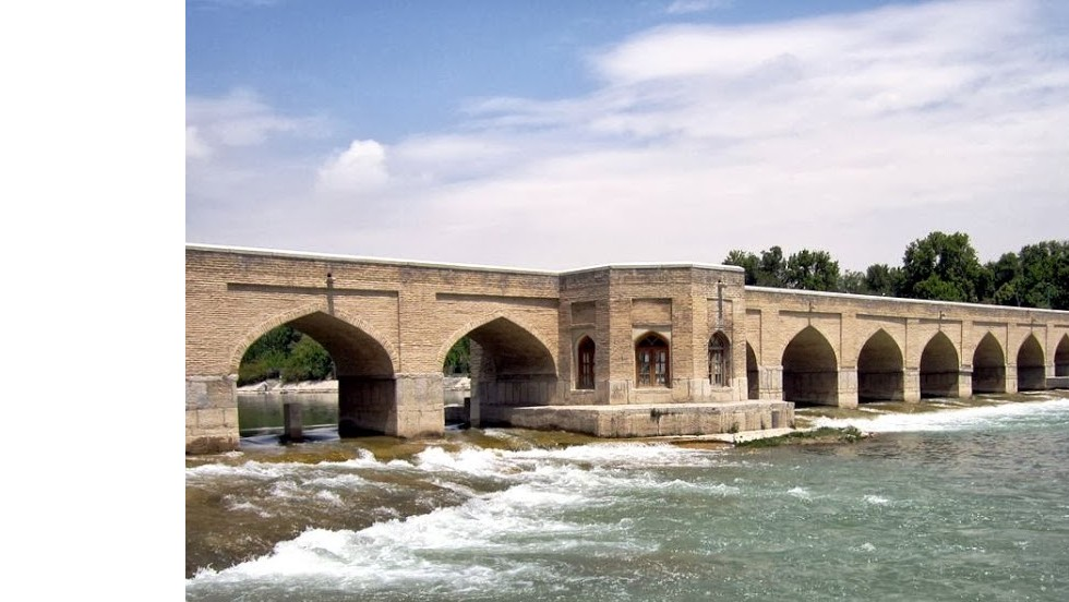 "The 21-arch Chubi Bridge (1665) is another of the four historic bridges of Isfahan. The two pavilions were used by the king's court for private parties. <a href=""http://edition.cnn.com/2013/06/26/travel/iran-time-for-travelers-to-return/index.html"">Read the accompanying article.</a>"