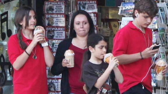 The kids make a coffee run in 2011.