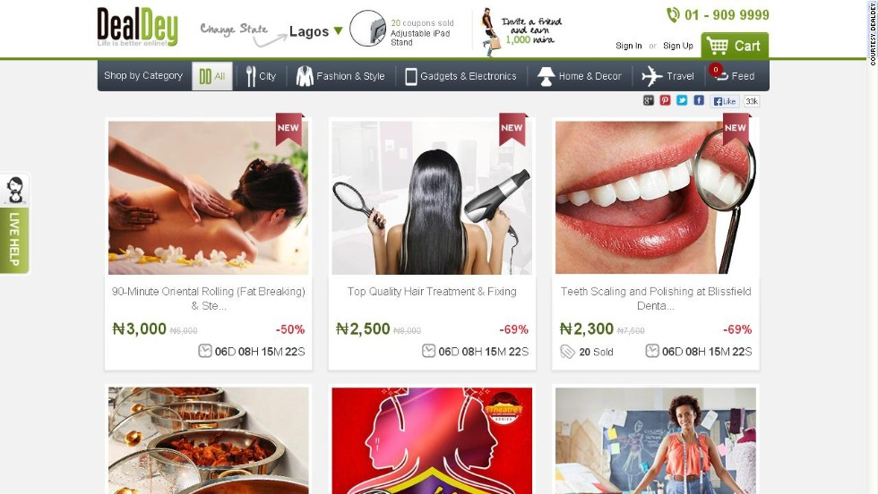 """To become Nigeria's largest deal site is no mean feat. Just ask Sim Shagaya -- this is one of the three digital giants he has created in the country. Skepticism runs high, even in Nigeria, but <a href=""http://www.dealdey.com/"" target=""_blank"">DealDey</a>, which could be just another Groupon ripoff, appears to be bucking the odds."""