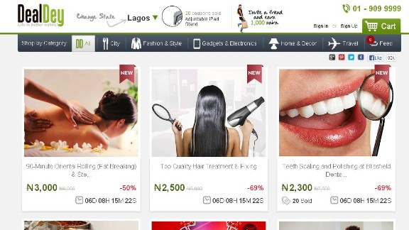 """""""One of the best-designed deal sites out there, Dealdey claims to have 350,000 subscribers and to be one of the top-grossing ecommerce sites in Nigeria. A Groupon clone, yes, but one that seems to be thriving quite well in a young ecommerce market."""""""