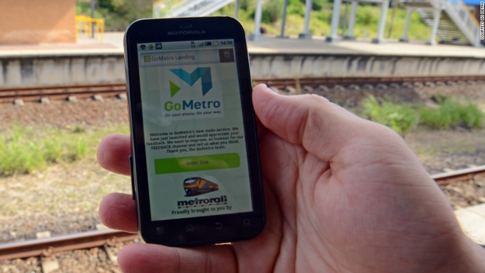 """<a href=""http://www.gometro.co.za/metrogp/html/router.php?pgm=http://41.160.59.42/Mobilep/metrolp.pgm"" target=""_blank""><strong>GoMetro</a></strong> wants to make commuting on public transport in South Africa better by providing real-time train schedules, associated platform changes, a trip planner, fare calculator and route maps. <br />""The startup is operational in major parts of South Africa, and claims to have more than 600,000 users. It recently partnered with Nigeria's <a href=""http://edition.cnn.com/2012/07/04/business/jason-njoku-iroko-nigeria"" target=""_blank"">iROKO Partners</a> to provide commuters with entertainment."""