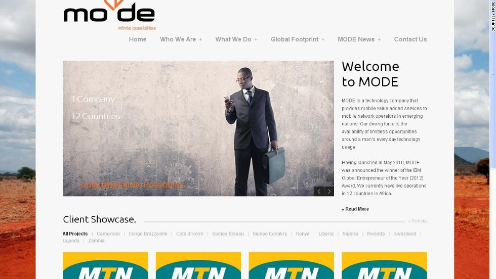 """<a href=""http://mo-de.co/"" target=""_blank""><strong>MoDe</a></strong> (Mobile-Decisioning) is a mobile nano-credit startup based in Kenya. The company uses proprietary technology to enable qualifying prepaid mobile subscribers to access airtime on credit. <br />""Repayments are recovered by MoDe on behalf of the mobile operators from the subscriber's next top-up. MoDe also won IBM's inaugural SmartCamp in Africa in 2012."""