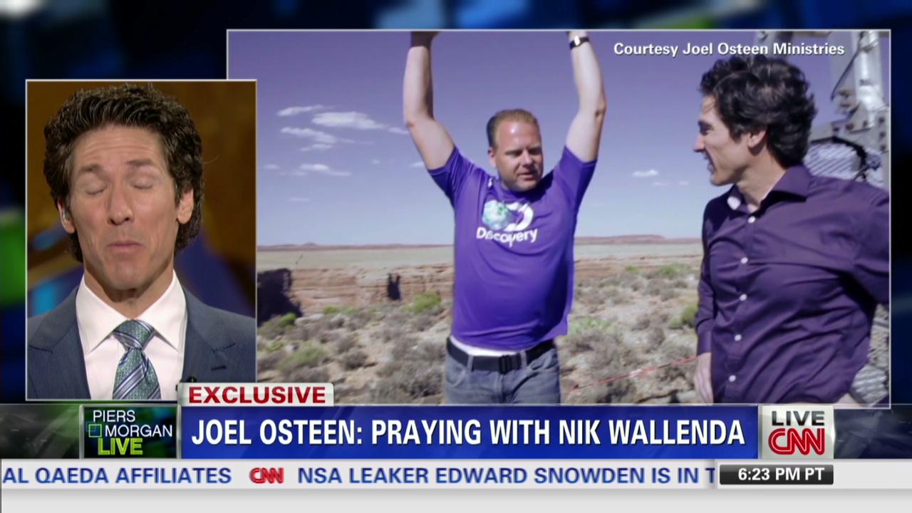 Osteen prays with Wallenda before stunt - CNN Video