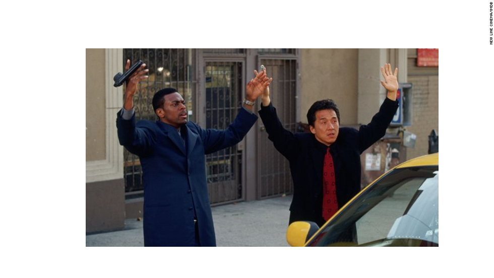 Chris Tucker, left, and Jackie Chan -- already stars in the world of stand-up comedy and martial arts movies, respectively -- achieved A-list status when they teamed up for this surprise 1998 hit comedy. Two sequels followed, naturally.