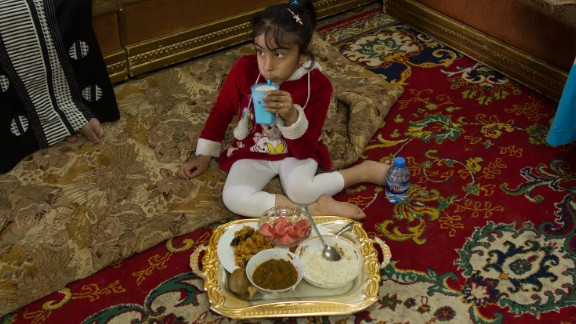 Noor doesn't like to eat a lot because of her intestinal problems common for spina bifida patients.