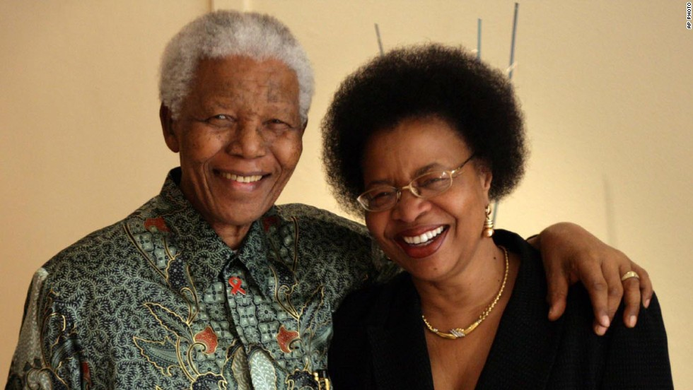 Not only is Nelson Mandela the former president of South Africa and a Nobel Peace Prize winner, but he is also a father, grandfather and even great-grandfather of a huge family.  Mandela has been married three times and has fathered six children. Here he poses with his wife of 15 years, Graca Machel.