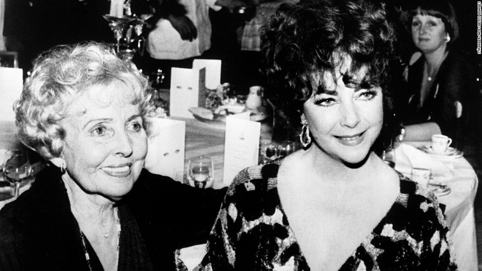 "Actress Elizabeth Taylor is seen with her mother, Sara Taylor, at the Savoy Hotel in 1982. Sara, a former stage actress herself, is often credited as the driving force behind Elizabeth's early career; she's also been criticized for being jealous of her daughter's silver screen success. ""We're very much alike. We both had horrible childhoods. Well, working at the age of 9 is not a childhood,"" <a href=""http://transcripts.cnn.com/TRANSCRIPTS/0605/30/lkl.01.html"" target=""_blank"">Elizabeth told CNN's Larry King</a> of her friendship with Michael Jackson in 2006."