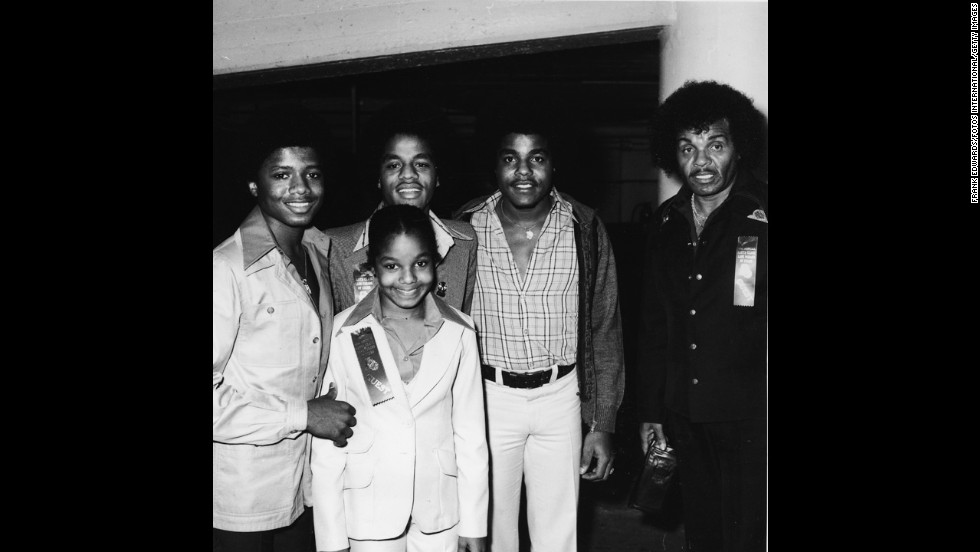 "Jermaine, Janet, Jackie, Tito and father Joe Jackson attend a Hollywood parade in 1977. Joe, the talent manager and father of 10, was often described as a strict disciplinarian and abuse allegations have come to light in recent years. ""I'm glad I was tough, because look what I came out with. I came out with some kids that everybody loved all over the world. And they treated everybody right,"" <a href=""http://www.cnn.com/2013/01/30/showbiz/joe-jackson-pmt"" target=""_blank"">Jackson told CNN's Piers Morgan in a recent interview.</a>"