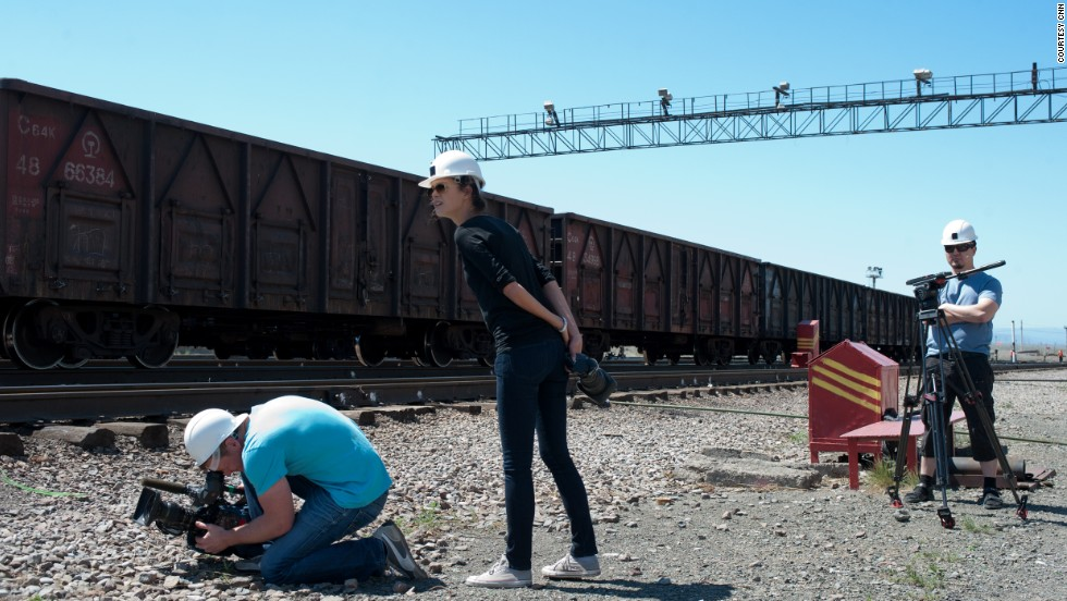 The Gateway team attempts to get some track-side shots of the train.
