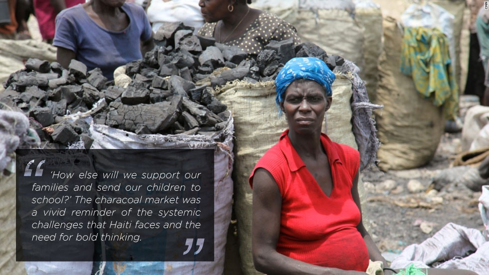 In the desperate need for charcoal, some thirty million trees are cut a year in Haiti as the majority of the population depends on charcoal for cooking. For most, it is their only source of energy.
