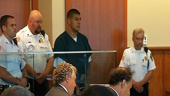 Aaron Hernandez appeared in court on Thursday, June 26, after he was charged with murder