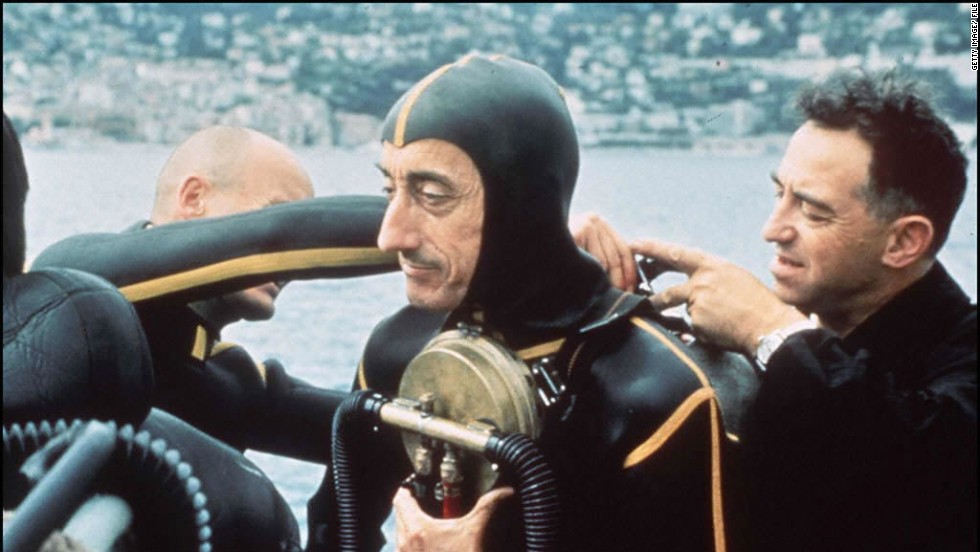 "The expedition marks 50 years since Jacques Cousteau (pictured) spent 30 days living in an underwater habitat at the bottom of the Red Sea. The mission was turned into an Oscar winning documentary, ""World Without Sun."""