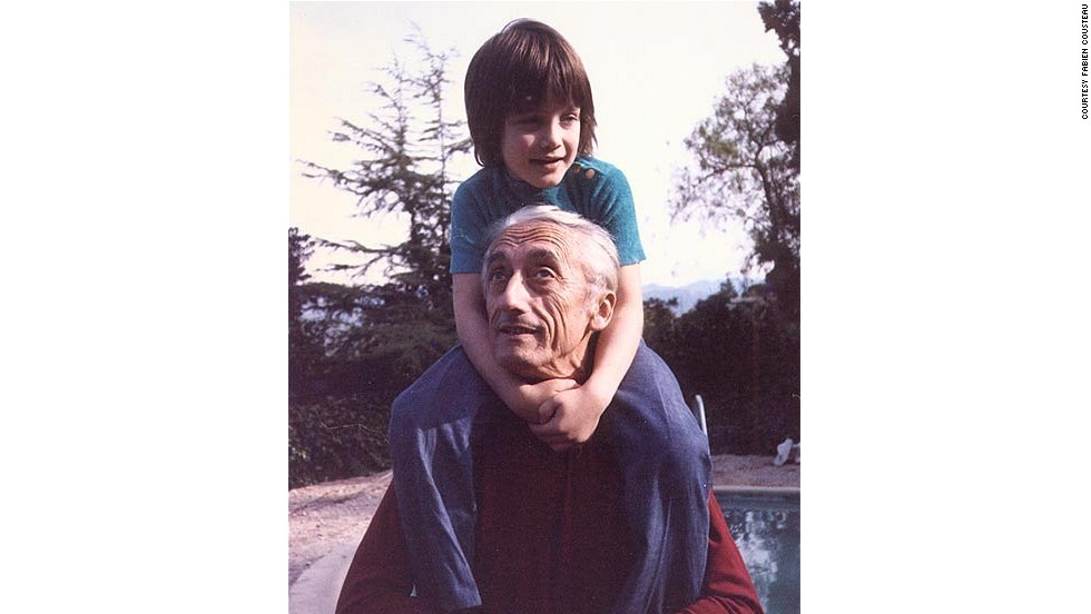 "Fabien's adventure will be a touching tribute to the grandfather (pictured) who sparked his lifelong passion for ocean exploration. ""My grandfather said people protect what they love. But how can you protect what you don't understand?"" he said."