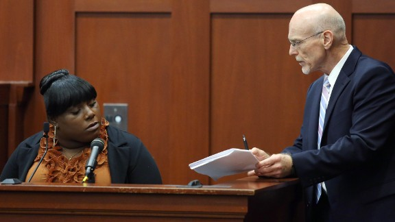 Rachel Jeantel, a friend of Martin's, is questioned by defense attorney Don West on June 27. She appeared to get frustrated several times during the cross-examination, including one time when West suggested they could break until the morning so she'd have more time to review the deposition transcript.