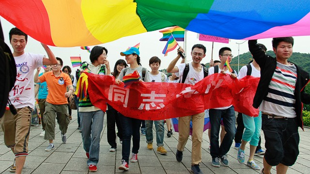 Pride events are held across China, with the largest in Shanghai every year.