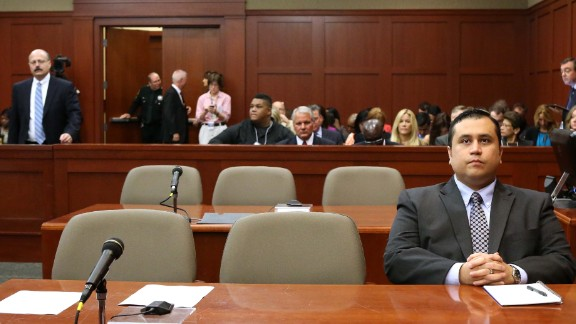 Zimmerman waits for the start of his trial on June 24.