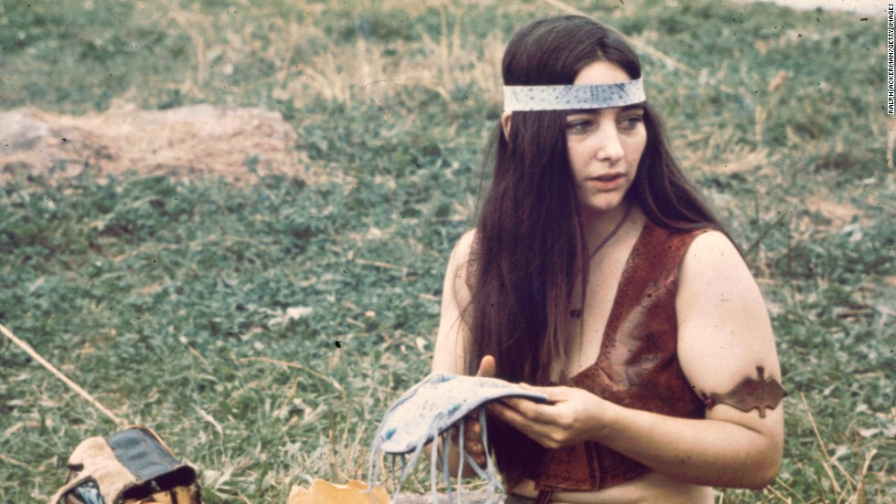 A young woman attends the Woodstock music festival in New York in August 1969. Headbands became a symbol of the hippie movement, known for its anti-establishment ideals and peaceful protests. Some of their fashion statements were adopted from Native Americans.