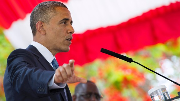 Obama talks on June 27 during a press conference.