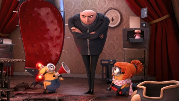 """No. 6: Steve Carell's Gru and his sunny yellow minions are anything but """"Despicable."""" Some critics dismissed this sequel to 2010's """"Despicable Me,"""" but the audience was more enthusiastic, according to Rotten Tomatoes -- and it shows in your votes."""