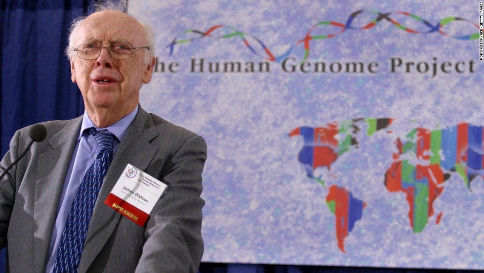 Watson was the first director of the Human Genome Project, which ended in 2003. The effort drew a complete map of the human genome.