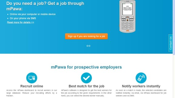 """""""mPawa is a mobile job-matching application developed for Africa's blue-collar recruitment sector. The service is quite simple -- create a profile, and potential employers can peruse.  """"Users can access the contents on the site via desktop, mobile or text message."""""""