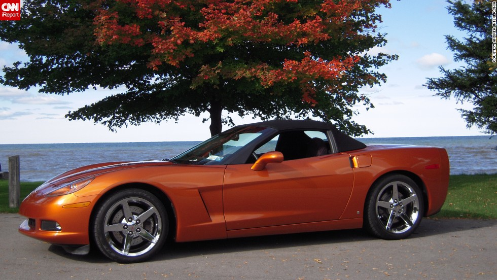 "<a href=""http://ireport.cnn.com/docs/DOC-996156"">Andrea Interlicchia </a>drives her 2008 Corvette Convertible in atomic orange with the top down from spring to fall. For the Corvette's 60th anniversary she says, ""Thanks for getting me from point A to point B in style."""