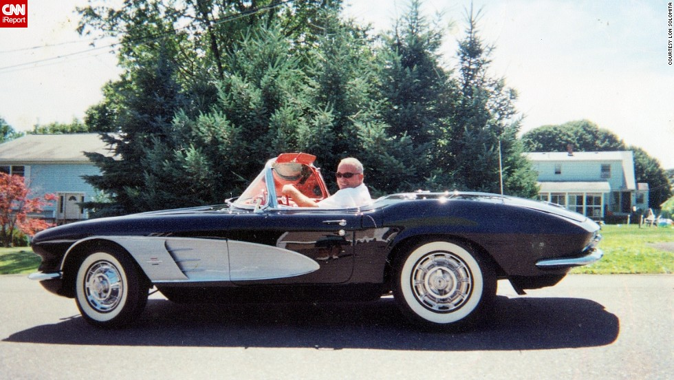 "<a href=""http://ireport.cnn.com/docs/DOC-995752"">Lon Solomita</a> cruising down Waterbury, Connecticut, in his 1961 Corvette. ""The first time I purchased a Corvette, I was 24. The guy who sold it to me said, 'You will always have to have one.' He was right. I am going onto purchasing my 10th Corvette,"" he said."