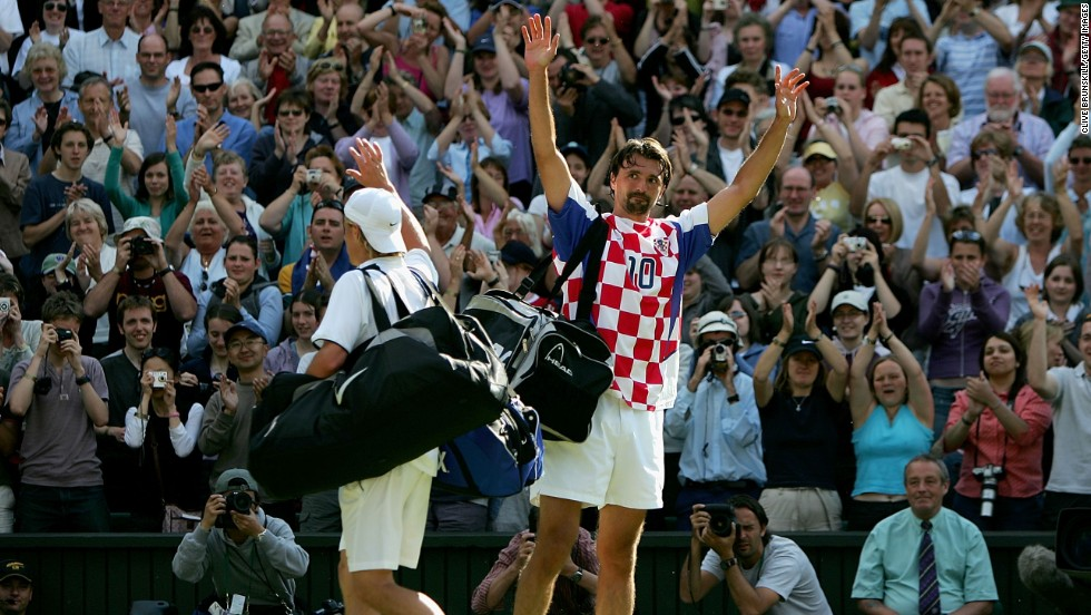 Ivanisevic played his last career match at Wimbledon in 2004, again as a wildcard, and lost to Lleyton Hewitt in the third round. Most of the applause as the players left the court was for him, not Rafter's fellow Australian.