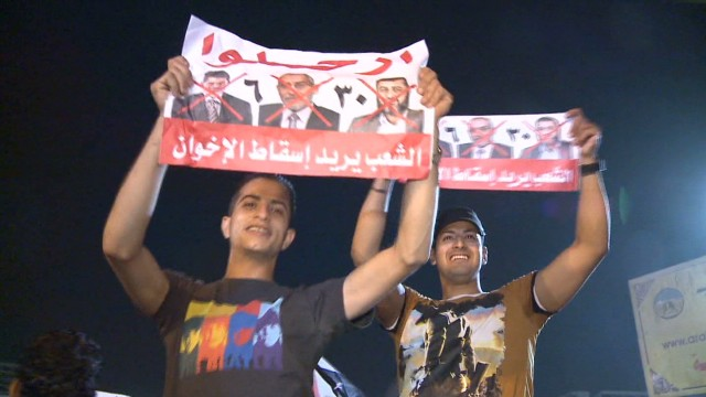 Egyptian protesters want Morsy out