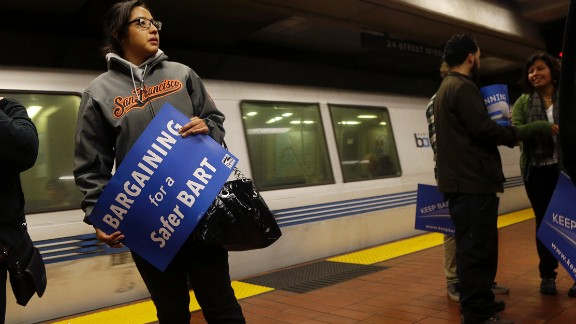 BART workers have threatened to strike Sunday.