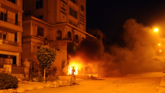 Protesters stormed the main headquarters of the Muslim Brotherhood in Cairo, the party that Morsy led before his election, and set it on fire on June 30.