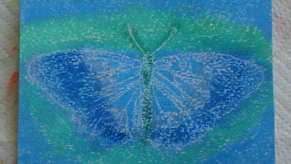This artwork was created by patients at the University of New Mexico.