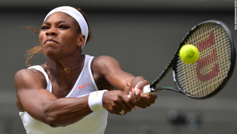 Williams hit back in the second set, taking it 6-2 as she showed the kind of form which has helped her win five Wimbledon titles. The 16-time grand slam champion then took a 4-2 lead in the third and final set.