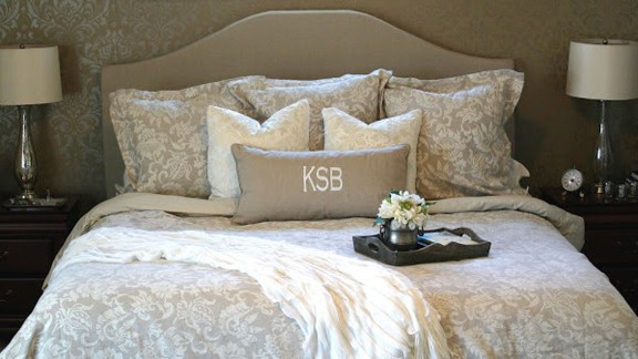 Kate Connor from Illinois loves a high-end look but hates the price that comes with it. A designer headboard inspired her to create her own, which she even created a tutorial for on her blog Chic on a Shoestring Decorating.