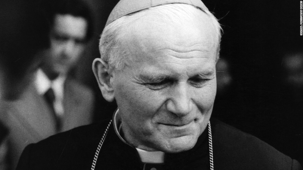 "The Roman Catholic Church will declare <a href=""http://www.cnn.com/2013/07/02/world/pope-john-paul-ii-fast-facts/index.html"">Pope John Paul II</a> a saint, the Vatican announced Friday, July 5. The Polish-born pope, pictured in 1978, was fast-tracked to beatification after his death in 2005 and was declared ""blessed"" barely six years later -- the fastest beatification in centuries. Here's a look at the <a href=""http://www.catholicnews.com/jpii/stories/story16.htm"" target=""_blank"">most widely traveled pope</a> and his journeys around the world:"